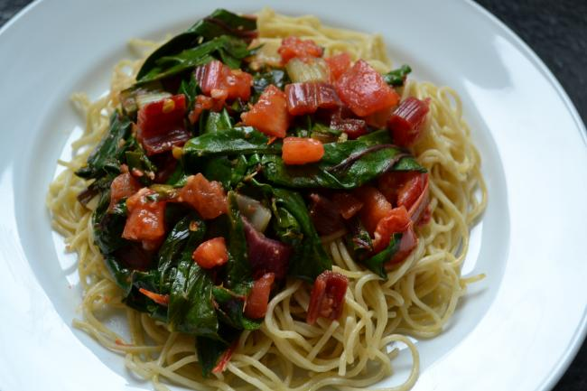 Angel Hair Pasta With Avocado And Tomatoes Recipe From